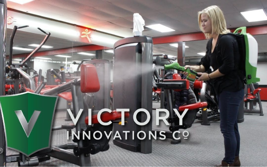 How does the victory electrostatic disinfectant spray machine work?